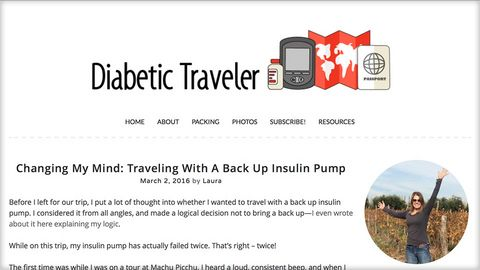 Diabetic Traveler - Traveling With A Back Up Insulin Pump