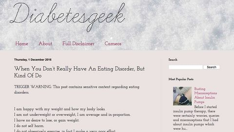 Disordered eating in diabetes - Diabetes Geek