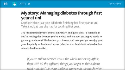 NHS England blog - first year of university