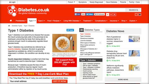 Diabetes.co.uk on T1