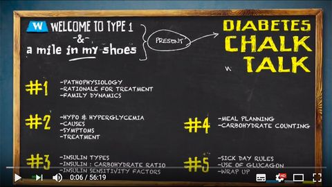Diabetes chalk talk - Welcome to Type 1