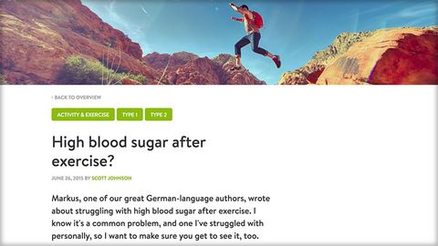 High blood glucose after exercise? mySugr Blog