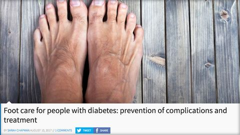 Foot care, treatment and prevention of complications