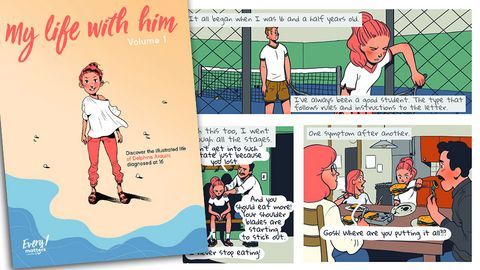 Comic from Sanofi for teens newly diagnosed with T1DM