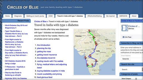 Circles of Blue - travelling in India with T1
