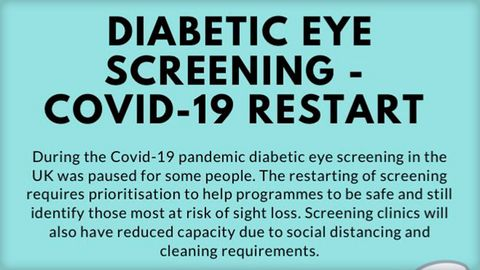 Diabetes Eye Screening - Covid 19 Restart