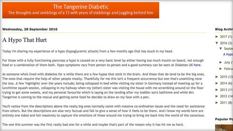 Tangerine Diabetic blog: the hypo that hurt