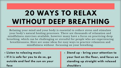 Dr Rose Stewart - 20 ways to relax