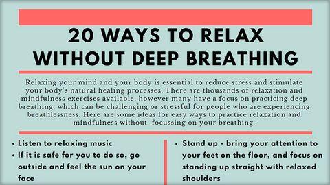 Dr Rose Stewart - 20 ways to relax