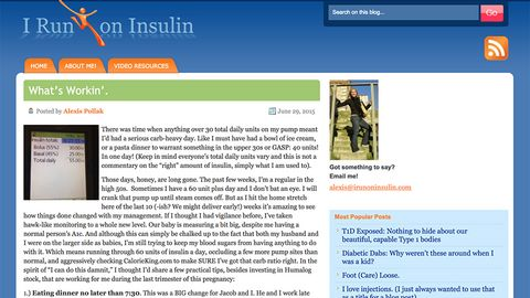 I run on insulin blog