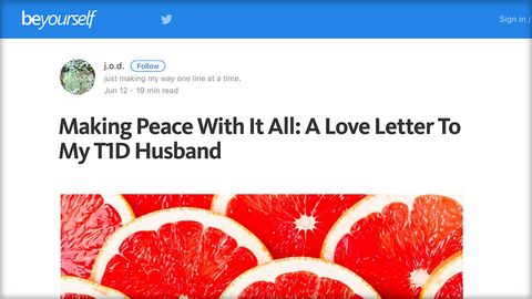 Making Peace with it all: A love letter to a T1 husband
