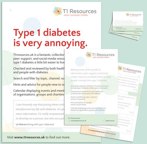 Type 1 diabetes information UK : Social media resources and