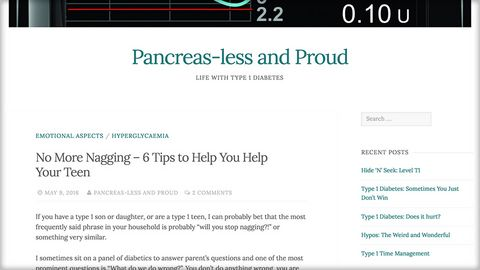 No More Nagging - Pancreasless and proud blog