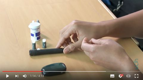 How to do a blood glucose check