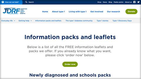 JDRF Information Packs