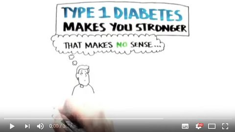 Diabetes makes you stronger - T1 whiteboard